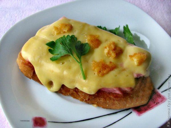 гренки с сосиской и сыром рецепт с фото