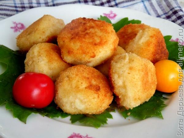 Сырно картофельные шарики рецепт фото
