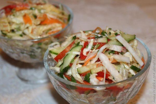 Вкусные рецепты салатов с фотографиями с указанием калорий